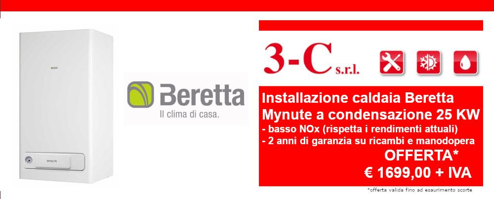 Offerta installazione caldaia Beretta a condensazione 25 KW