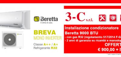 Offerta installazione condizionatore monosplit Beretta 9000 BTU